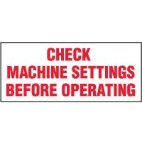 Check Machine Settings Label