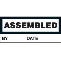 Assembled Status Label