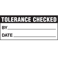 Tolerance Check Status Label
