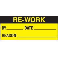 Re-Work Status Label