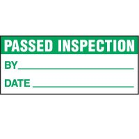 Passed Inspection Status Label