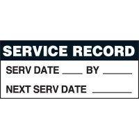 Service Record Status Label
