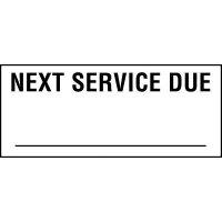 Next service due status label