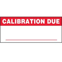 Calibration Due Status Label