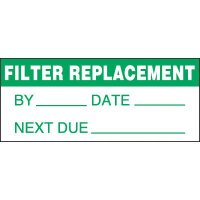 Filter Replacement Status Label