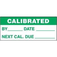 Calibrated Self-Laminating Status Labels