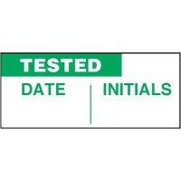 Tested Self-Laminating Status Labels