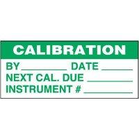 Calibration Self-Laminating Status Labels