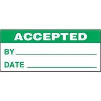 Accepted Self-Laminating Status Labels