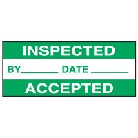 Inspected Accepted Status Labels