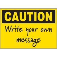 Write-On Vinyl Label - Caution