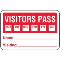 Visitor Pass Badges