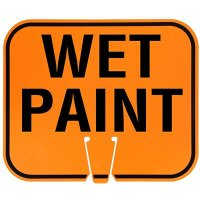 Plastic Traffic Cone Signs- Wet Paint