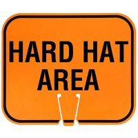 Plastic Traffic Cone Signs- Hard Hat Area