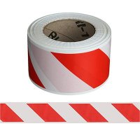 Red and White Striped Barricade Tape