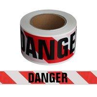 Red/White Striped Danger Barricade Tape