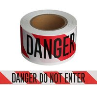 Striped Danger Do Not Enter Barricade Tape