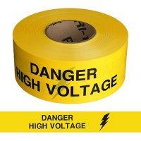 Danger High Voltage Barricade Tape