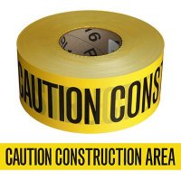 Caution Construction Area Barricade Tape