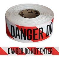 Striped Do Not Enter Barricade Tape