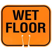 Plastic Traffic Cone Signs- Wet Floor