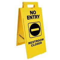 Lockin'arm Floor Stand Signs - No Entry Restroom Closed - Cortina 03-600-37