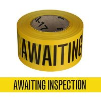 Quality Control Tapes - Awaiting Inspection