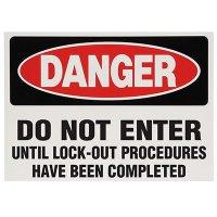 Lock-Out Labels - Danger Do Not Enter