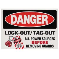 Lock-Out Labels - Lock-Out / Tag-Out All Power Sources