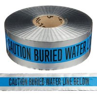 Detectable Underground Warning Tape - Caution Buried Water Line Below