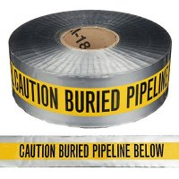 Detectable Underground Warning Tape - Caution Buried Pipeline Below