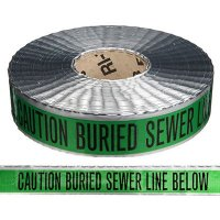 Detectable Underground Warning Tape - Caution Buried Sewer Line Below