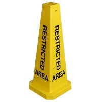 """Safety Cone- """"Restricted Area"""""""