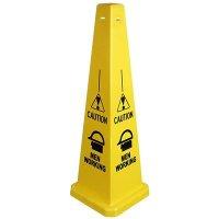 Caution Men Working Safety Cone