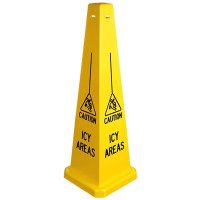 Caution Icy Areas Safety Cone