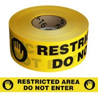 Restricted Area Barricade Tape
