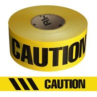 Caution Striped Barricade Tape