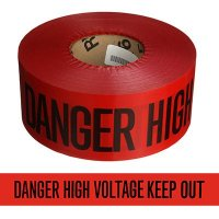 High Voltage Keep Out Barricade Tape