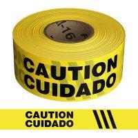 Bilingual Caution Barricade Tape