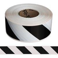 Black/White Striped Barricade Tape