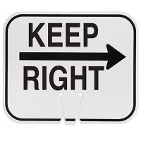 Plastic Traffic Cone Signs- Keep Right With Arrow