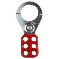 "Brady® 65376 Red Lockout Hasps (1-1/2"" Diameter Jaws)"