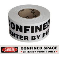 Confined Space Barricade Tape