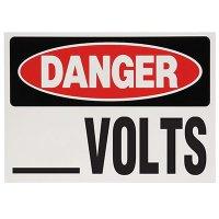 Voltage Warning Labels - Danger __ Volts