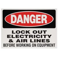 Lock-Out Labels - Danger Lock Out Electrical Switches