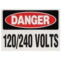 Voltage Warning Labels - Danger 120/240 Volts