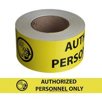 Authorized Personnel Only Message Tape Nadco SAWT11
