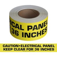 Caution Electrical Panel Message Tape Nadco 3X200-SAWT23