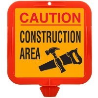 Caution Construction Area Safety Cone Sign