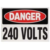 Voltage Warning Labels - Danger 240 Volts